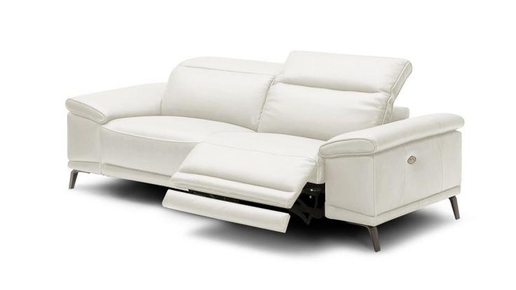 Canapé cuir 3 places relax électrique Juktan - Mobilier Moss