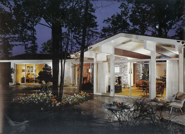 192 best exteriors mid century modern images on pinterest for Century custom homes