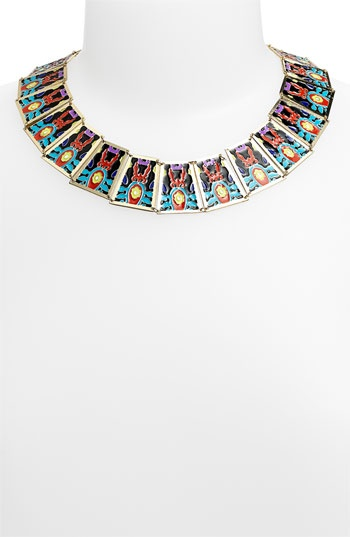 Noir Enamel Statement Bib Necklace | Nordstrom