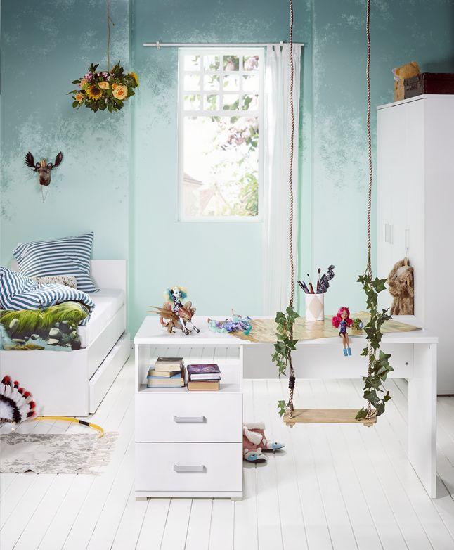 3-delige kamer Marie  Droom volledig weg in deze mooie stijlvolle slaapkamer Marie met comfortabel bed, praktisch bureau, en kast met alle ruimte voor je kledij #collishop #kinderkamer #slaapkamer
