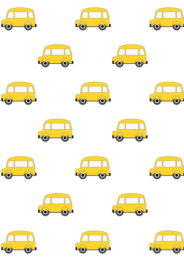 FREE printable yellow car pattern paper | #littleboy