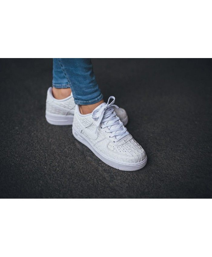 huge discount b3731 e68be Nike Air Force 1 07 Lv8 White Croc Trainer
