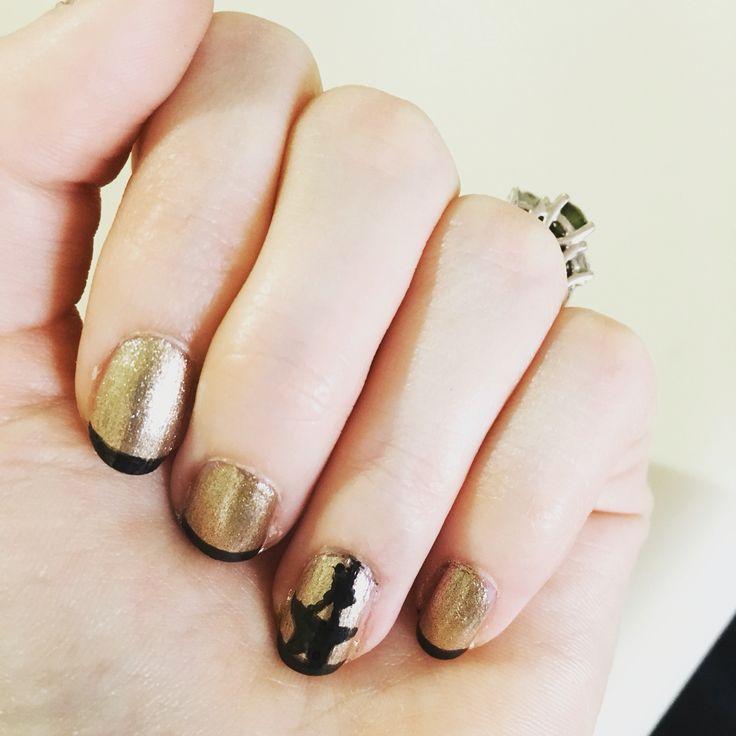 hamilton musical nail art nails