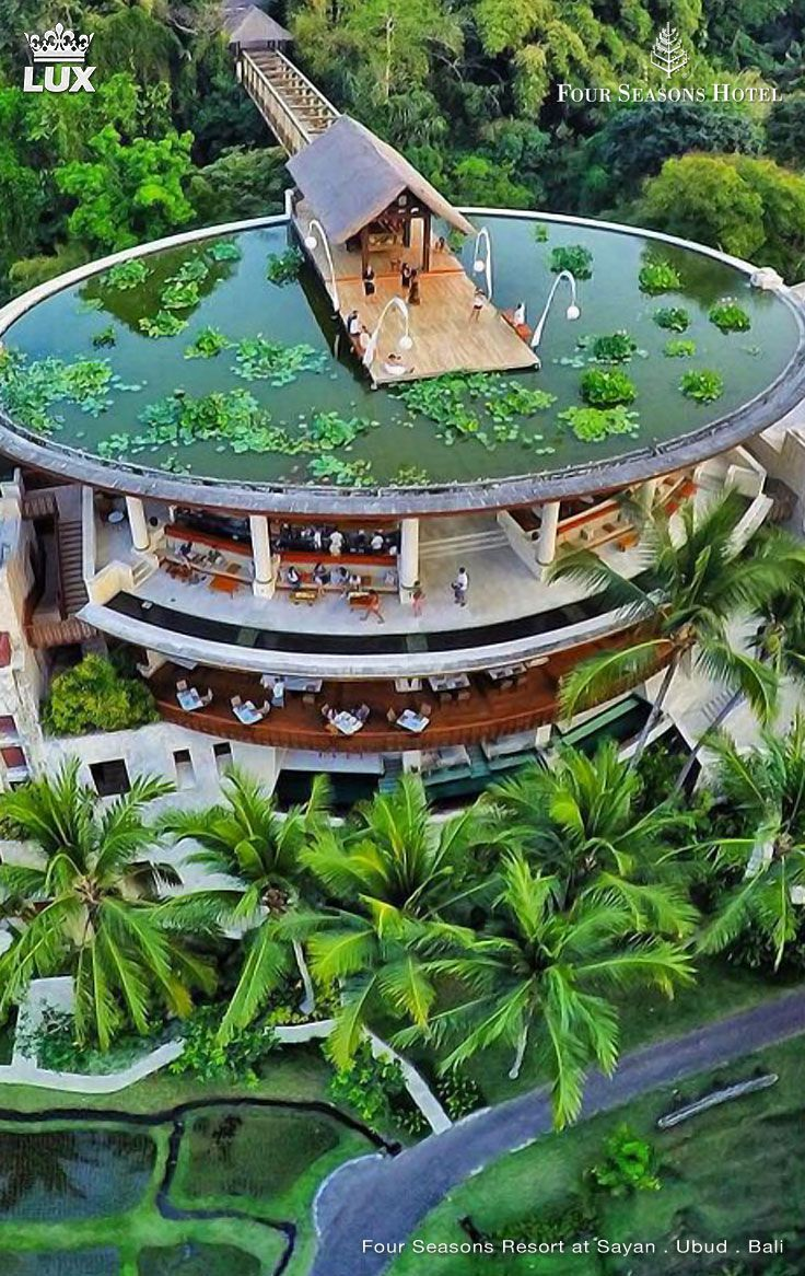 Four Seasons Resort Bali At Sayan Has Been Recognized As One Of The World S Best Resorts On The Conde Nast Traveler Gold List 2014 Vacation Places Resort Ubud