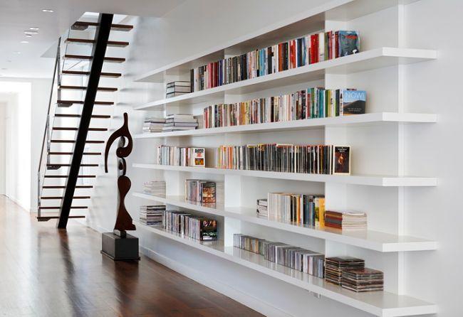 El Uso de una Biblioteca en un Hogar Moderno: Interior Design, Ideas, Bookshelves, Bookcases, Magdalena Keck, Home Libraries, Built In, Interiors Design, Libraries Design