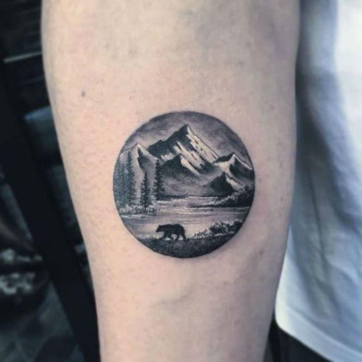 pinterest || ☽ @kellylovesosa ☾30 Epic Mountain Tattoo Ideas