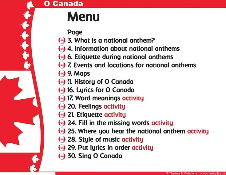You Can Find Canada S National Anthem Almost All The Grades On Musicplayonline We Have A Fu Word Meaning Activities Feelings Activities Interactive Activities