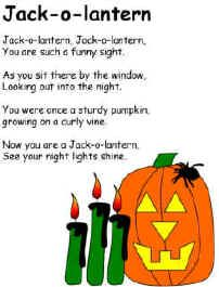great site for printables songs poems preschool halloweenhalloween - Halloween Songs For Preschoolers