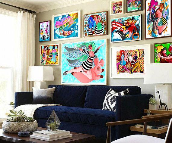 DOWNLOAD ISTANTANEO. Poster Hula Hoop colori Arte di julioroberts