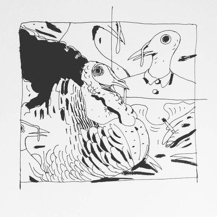 Inktober no10 - turkeys #inked #inktober #inktober2016 #turkeys #birds #animals  ___ #illustration #art #artist #instaart #dailyart #artoftheday #doodleartist #pen #pencil #drawing #drawings #sketch #scribble #picoftheday #sketchbook #doodle #kunst #dessin #dibujo #newartwork #instadaily