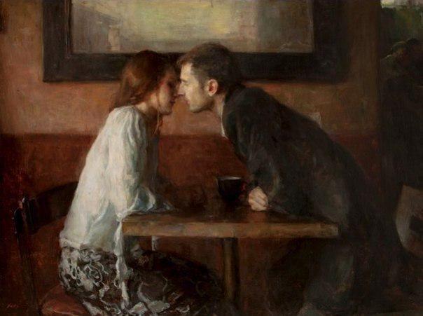 А Stolen kiss by Ron Hicks   #art