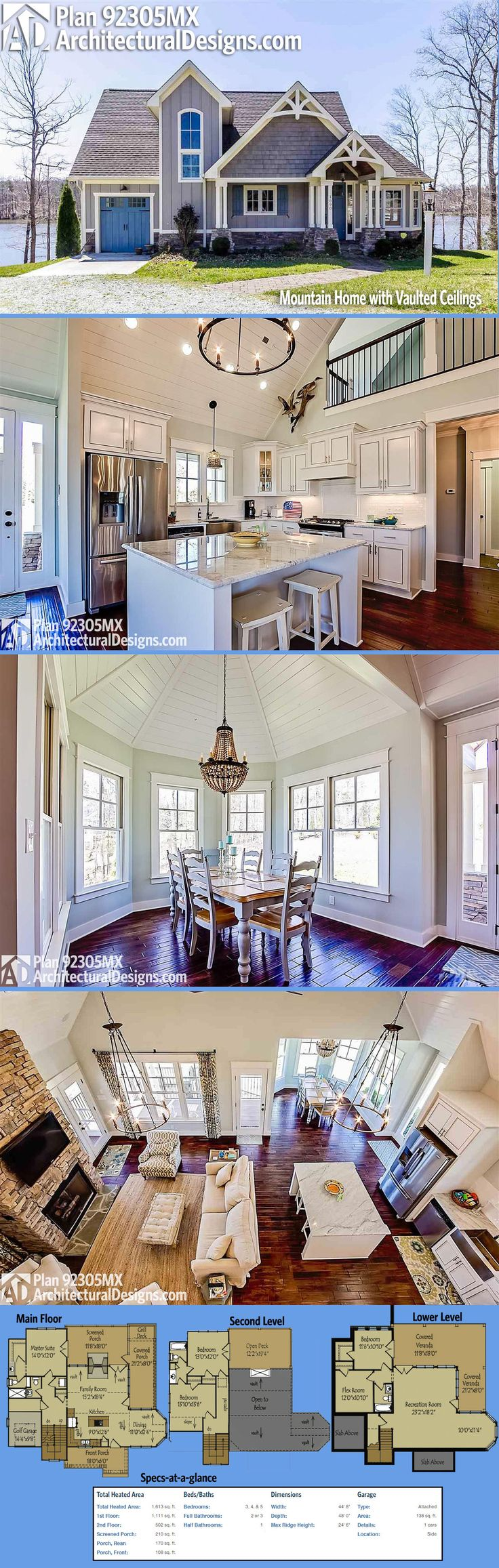 Craftsman style dining room - Check Out This Classy Build Of Architectural Designs Exclusive House Plan 92305mx It Has Beautiful