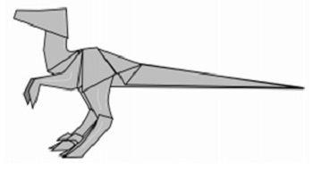 Velociraptor Dino Origami Tattoo