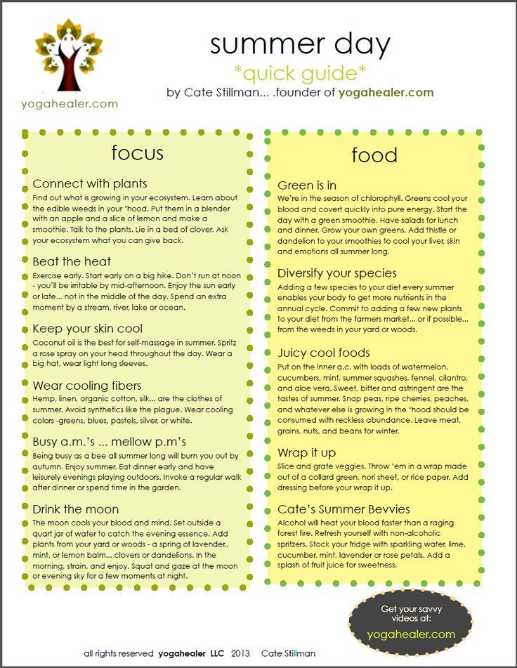 Ayurvedic Diet - Adjustements for Summer Season - Learn more: http://www.foodpyramid.com/diets/ayurvedic-diet/  #ayurveda