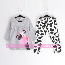 Precioso Mother vaca traje de niño y niña ropa de los niños para el que arropan invierno pijamas para niños ropa(China (Mainland))