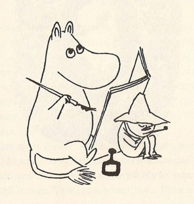Best friends are always there to give you a hand and support when you need their help , why not show them how much you appreciate their love and support on valentine's day Moomin style, Happy valentine's followers  tove jansson