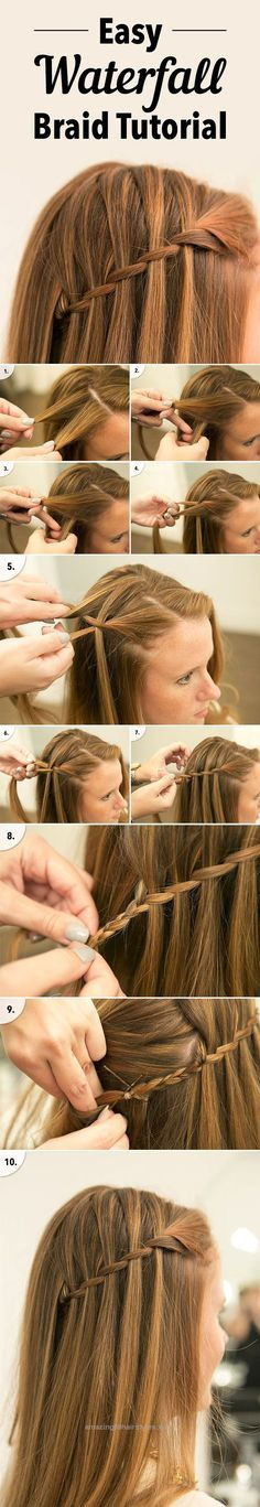 Fantastic easy waterfall braid tutorial for diy wedding hairstyle ideas The post easy waterfall braid tutorial for diy wedding hairstyle ideas… appeared first on Amazing Hairstyles .