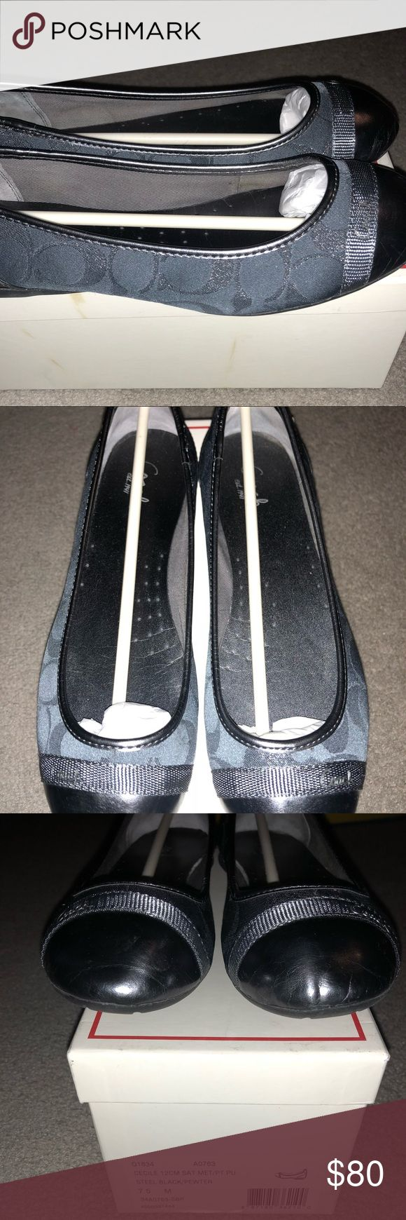 Coach flats shoes Coach flat shoes Size:7.5  Only worn once for a few hours and realized they were to tight Coach Shoes Flats & Loafers