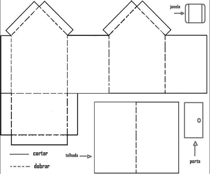 Moldes para hacer casas de papel imagui casa de peppa for Como crear una oficina