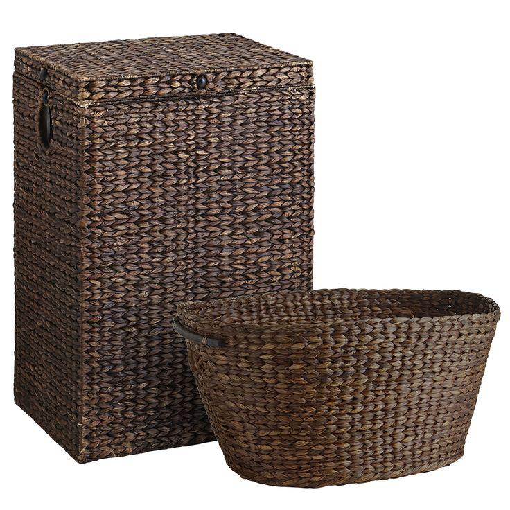 Carson Espresso Wicker Hamper U0026 Laundry Basket