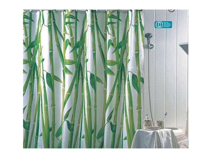 #cortinas #bano con #bambu https://www.catayhome.es/categoria/cortinas-de-bano/