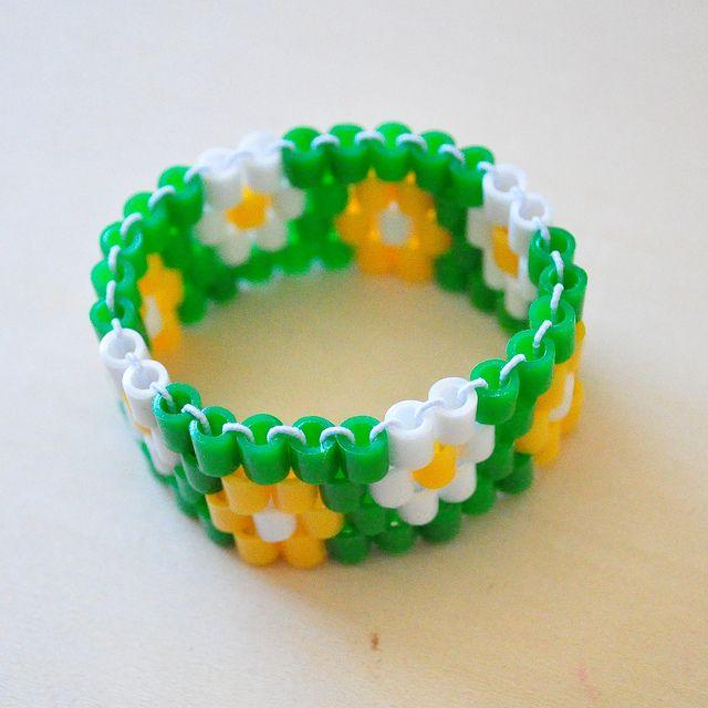 perler bead bracelet pattern via lydia purple via flickr