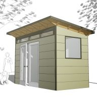 6 x 12 Storage Shed  Build & price yours here! http://www.studio-shed.com/shed-configurator/step1.php  midcentury - spaces - Studio Shed - home office - shed - studio - prefab studio - outdoor living space - home gym - modern shed - contemporary shed - modern - contemporary