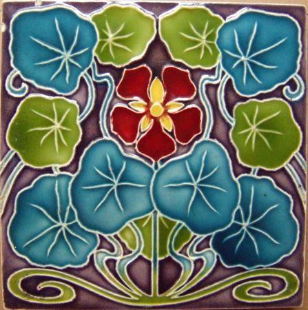 WEST SIDE ART TILES - victorian, art nouveau, transfer tiles, arts and crafts, tubelined, wedgwood, minton tiles, english tiles, german, benelux, american tiles, aesthetic, sets, panels, border tiles, waterlilies,