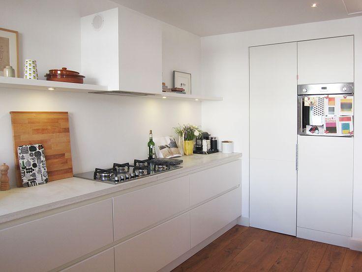 witte keuken met marmer blad - Google zoeken