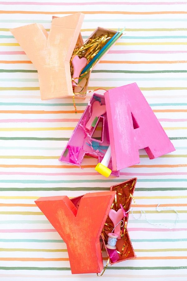 DIY Letter Shaped Boxes.. Love these!!