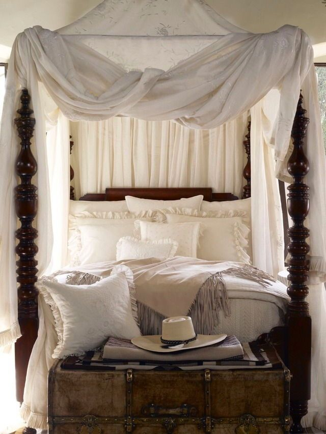 Romantic four post canopy bed from Ralph Lauren