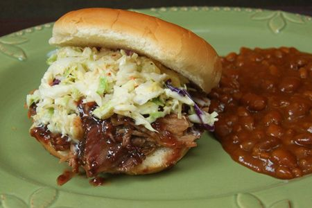 Raspberry-chipotle Pulled Pork Sandwiches (includes recipe for pulled pork)