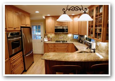 Kitchen layout idea. Though I'd need more counter space