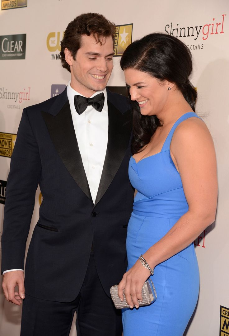 Henry Cavill and Gina Carano. Pretend Superman is dating ...