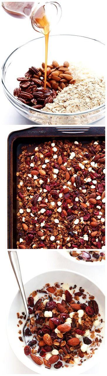 Cranberry White Chocolate Granola Recipe