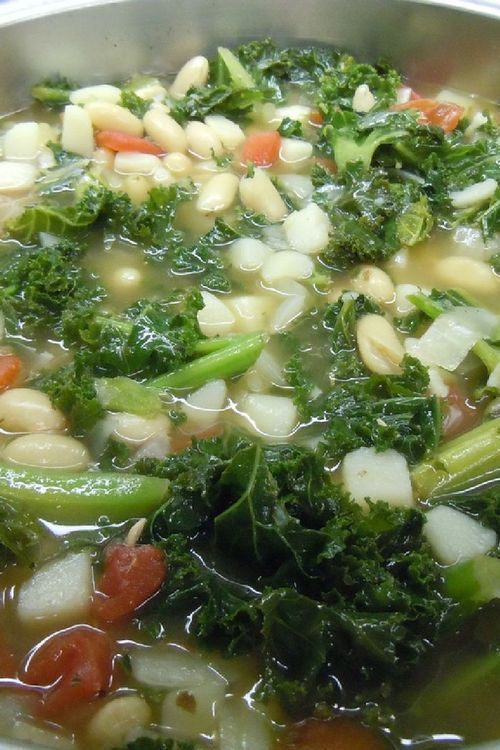 Beans and veggie soup. Light