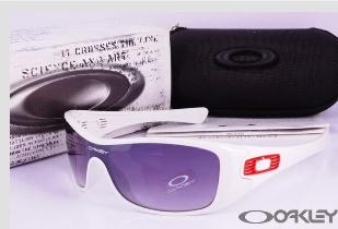oakley antix polished white sunglasses grey iridium $13