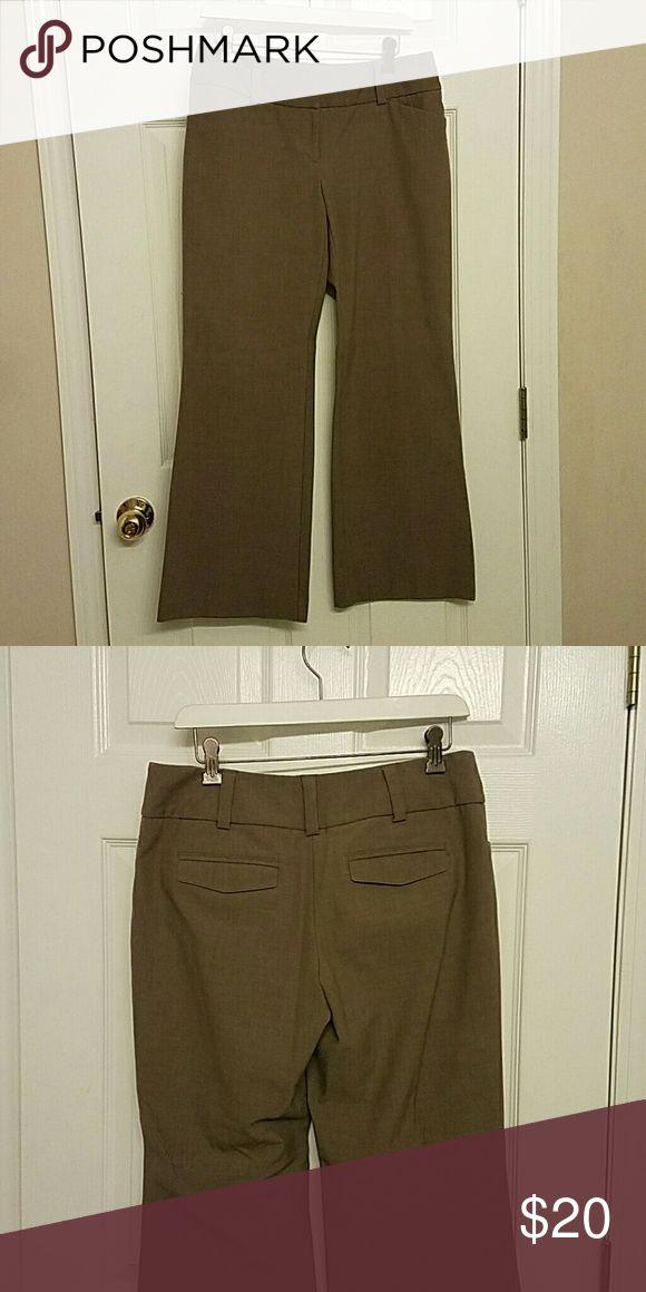 Pants Brown slacks, wide leg Pants Trousers