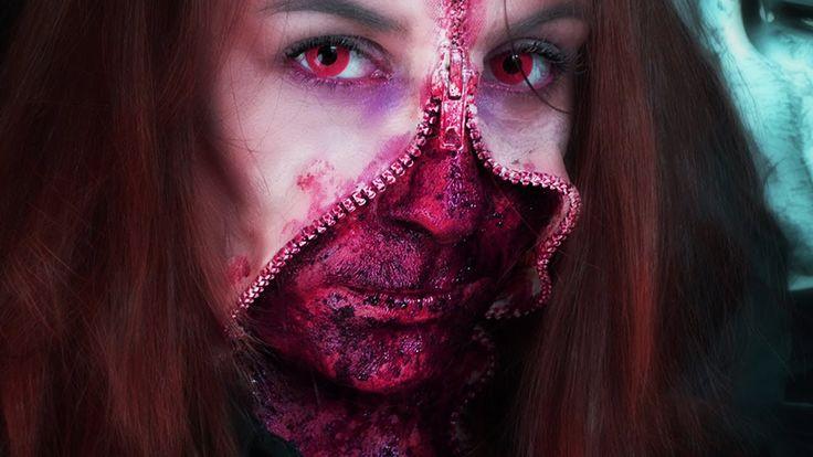 Maquillage Effets Spéciaux  Gore - Unzipped Zipper Face
