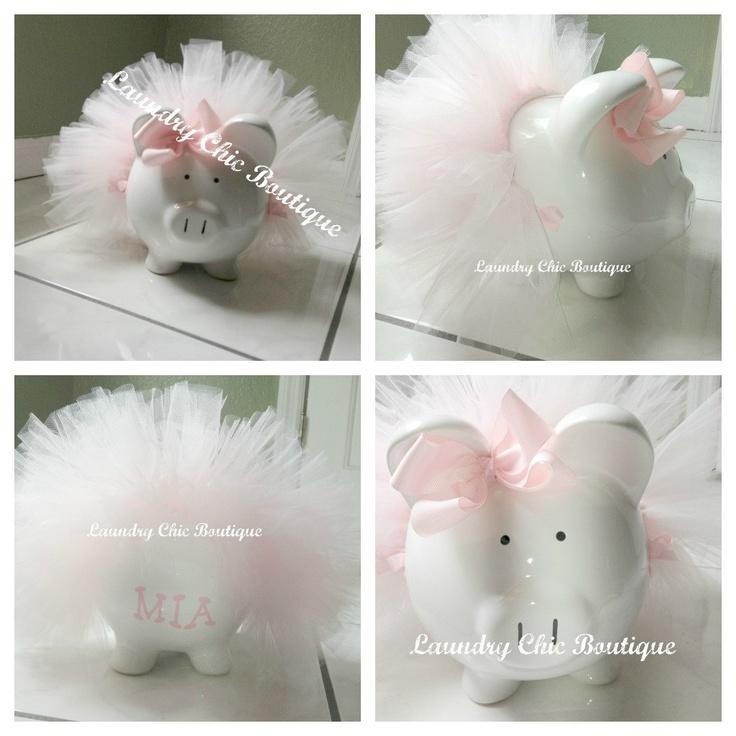 Tutu Piggy Bank Large. $35.00, via Etsy.