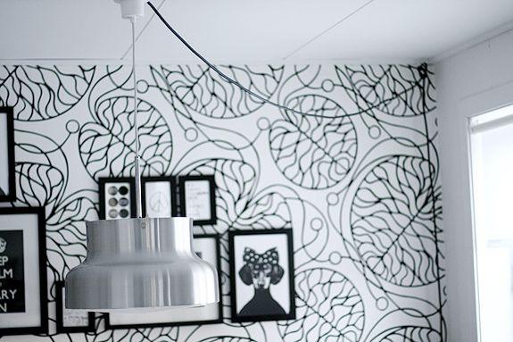 "Kökstapet? Marimekko wallpaper ""Bottna"""
