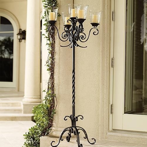 La Scala Floor Candelabra traditional candles and candle holders