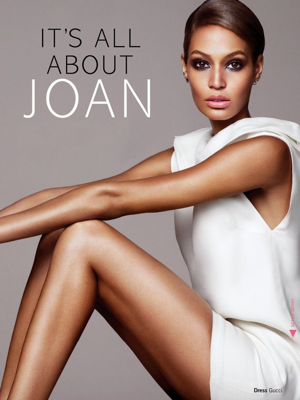 Glamour UK Model: Joan Smalls Photographer: Jonas Bresnan Styled by: Alessandra Steinherr EDITORIALS ALL WHITE LOOKS WHITE SLEEVELESS DRESS BEAUTY HAIR UP