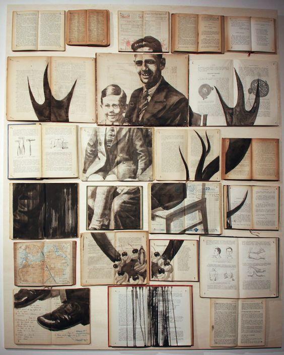 ~Ekaterina Panikanova,Tuvali eski kitaplar sergisi. http://www.mozzarte.com/sanat/ekaterina-panikanovatuvali-eski-kitaplar-sergisi/