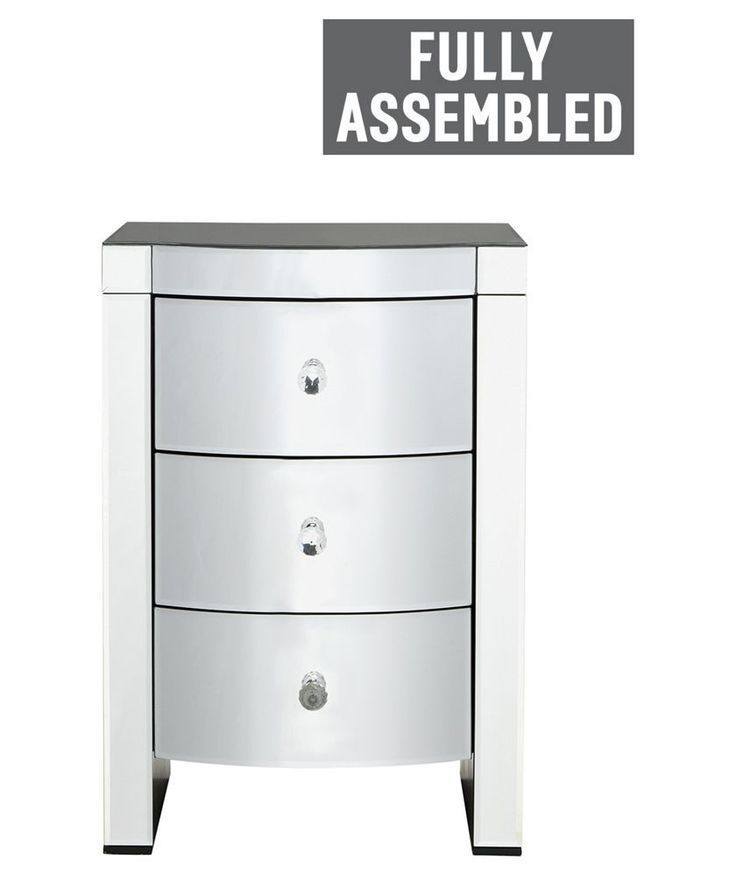 Buy Heart of House Canzano 3 Drawer Mirrored Bedside Chest at Argos.co.uk - Your Online Shop for Bedside cabinets.