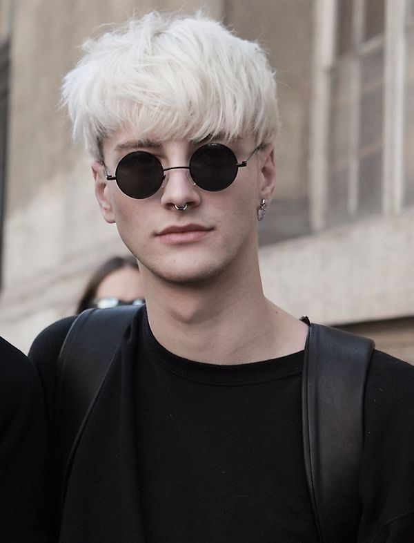 cheveux blanc dcolor hipster hairs cut pinterest hipsters - Coloration Cheveux Blancs Homme