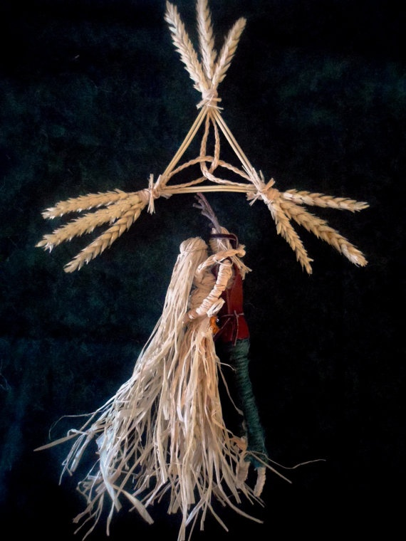 Pagan Handfasting Gift.Corn Dolly Horned God & Litha / lammas Goddess. Hand crafted Original by Positively Pagan Crafts,