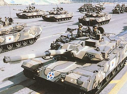 K1A1 Main Battle Tank, South Korea The vehicles are built at Hyundai's automated production facility at Changwong.