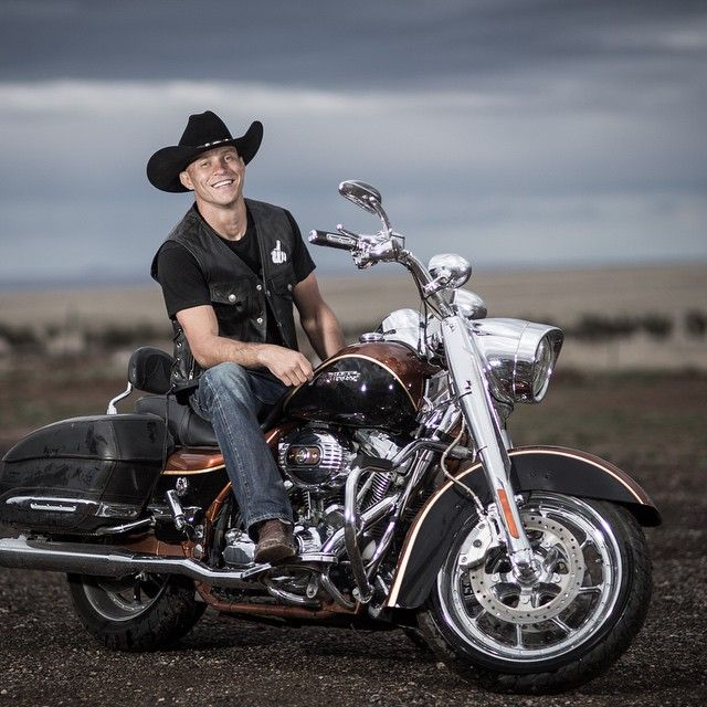 "smiling Donald ""Cowboy"" Cerrone on a bike : if you love #MMA, you'll love the #UFC & #MixedMartialArts inspired fashion at CageCult: http://cagecult.com/mma"