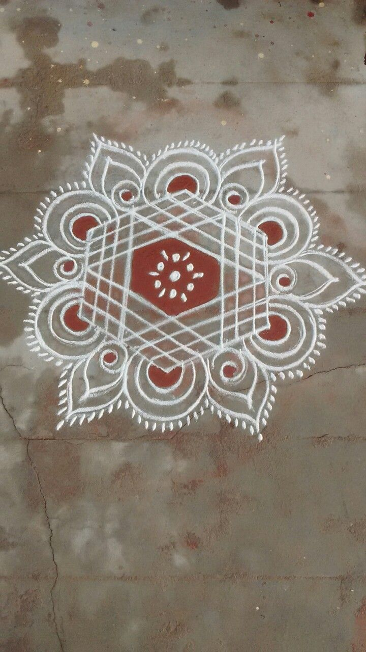 453 best muggulu images on pinterest for Floor rangoli design
